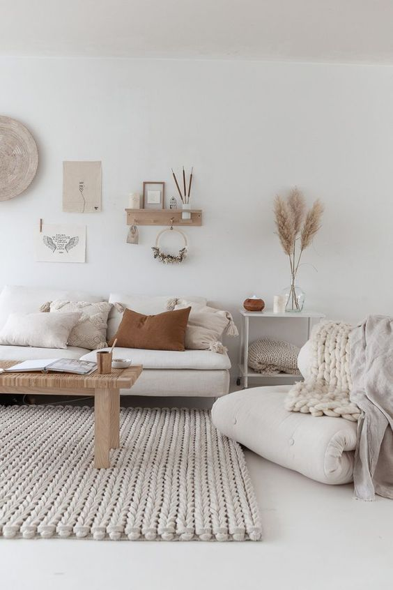 decoración sofá pared